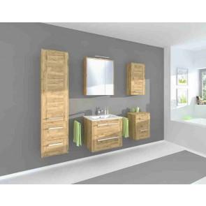 Modern fürdőszobaszekrény szett (6 részes) – Vincent arany tölgy (80)