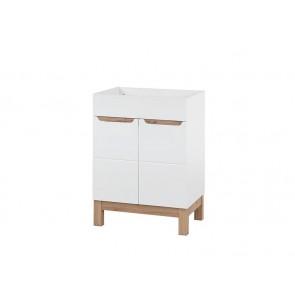 Szekrény mosdóhoz fürdőszobába 60 - 2D - fehér - BARI