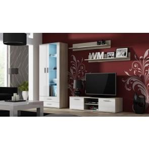 Modern nappali szekrénysor sanoma tölgy / fehér
