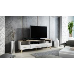 Modern TV állvány, 3 ajtóval, 3 polccal - Lolita '180'