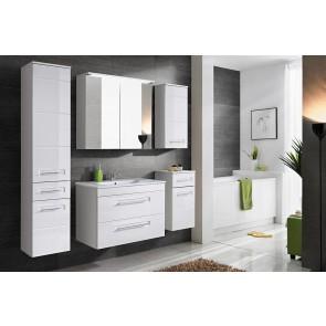 Modern fürdőszoba szett (6 részes), magasfényű frontokkal (80) -  Whity