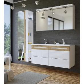 Fehér fürdőszobabútor szett (120 cm)