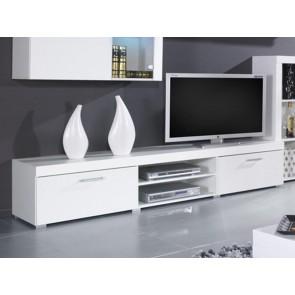 """Stílusos TV szekrény """"200"""" - Rumba (Reg.8) fehér-fehér"""