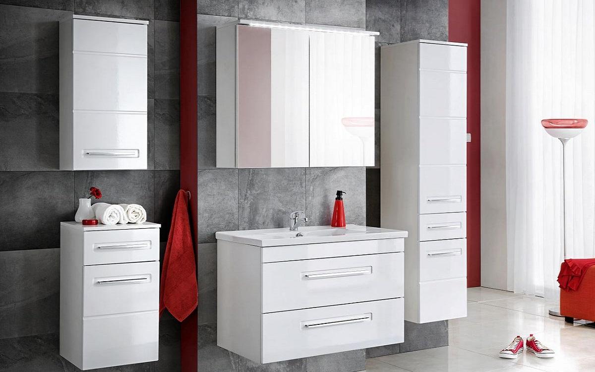 Fehér fürdőszoba bútorok